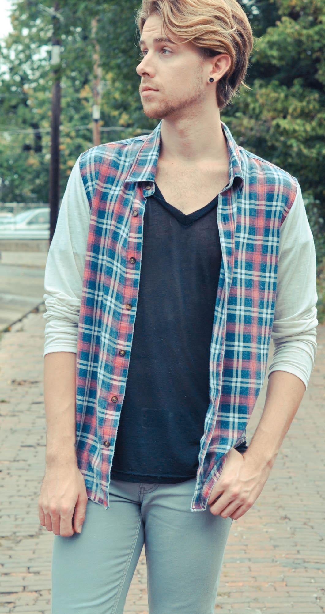 american-apparel-v-neck-t-shirt-color-fast-plaid-shirt-levis-jeans