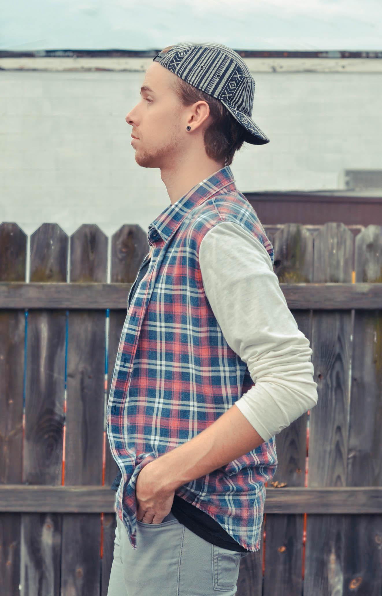 aztec-print-hat-forever-21-american-apparel-v-neck-t-shirt-color-fast-plaid-shirt-levis-jeans