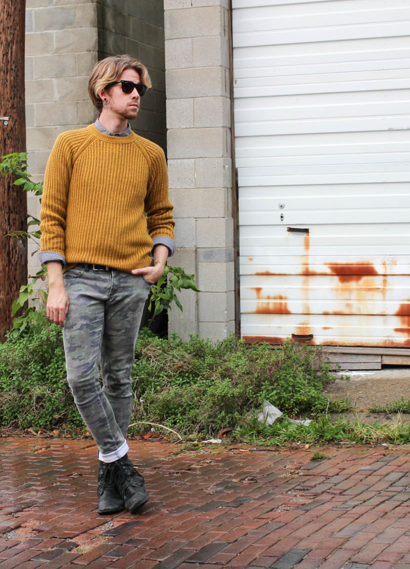 hawkings-mcgill-polka-dot-hm-sweater-trippnyc-camo-pants