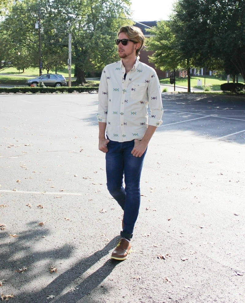jd-fisk-valdez-rayban-wayfarers-topman-button-down-shirt-aztec-print-topman-camo-jeans