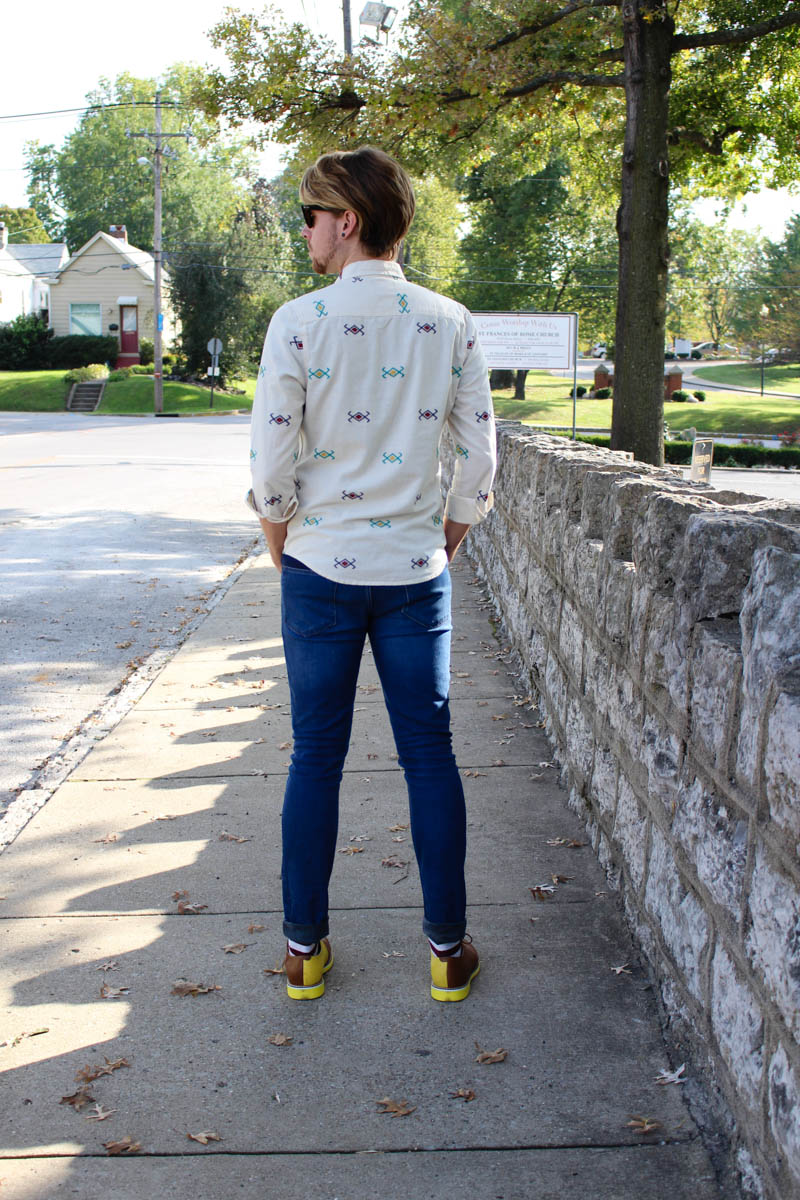 topman-button-down-shirt-aztec-print-shirt-topman-camo-jeans-jd-fisk-valdez