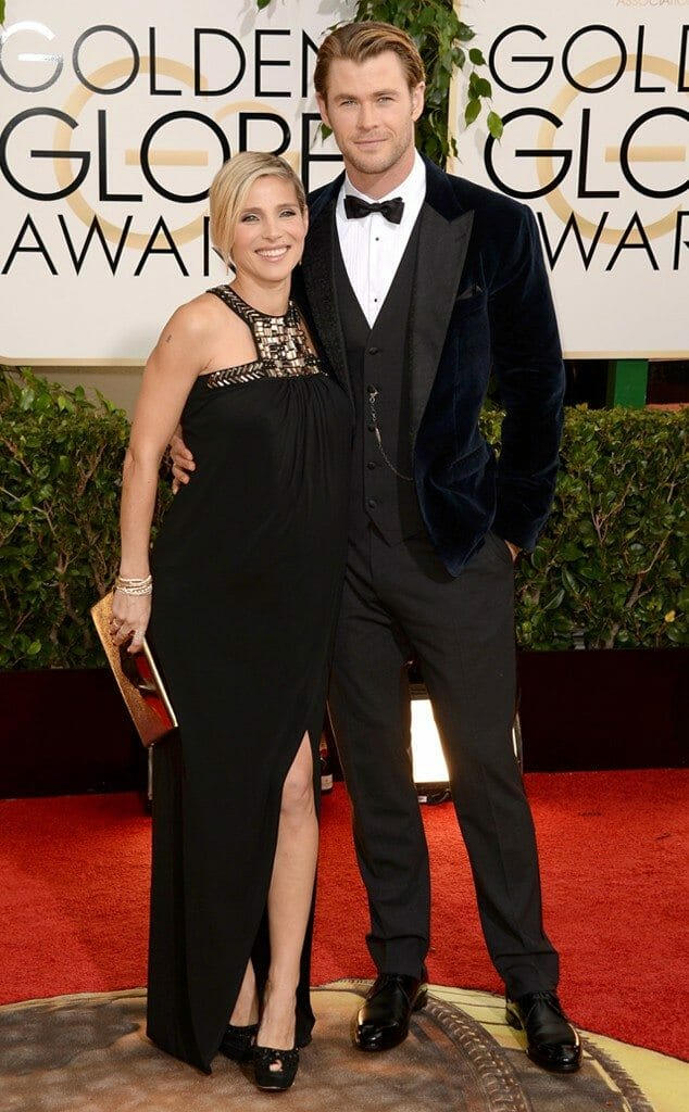 Chris Hemsworth in Dolce & Gabana at the 2014 Golden Globes