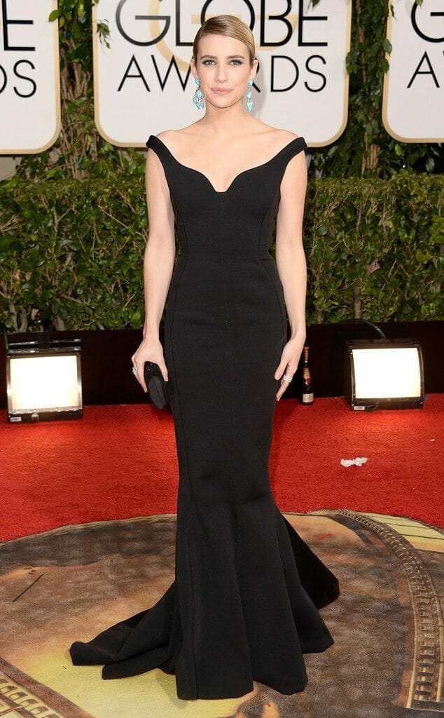 Emma Roberts in Lanvin at the 2014 Golden Globes