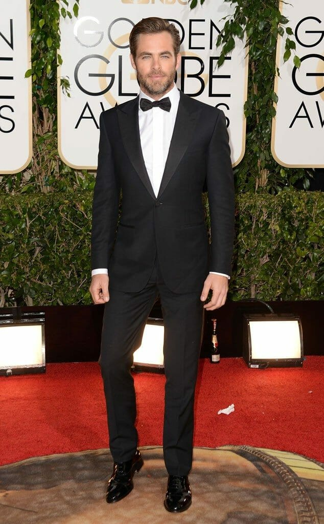Chris Pine in Zegna at the 2014 Golden Globes