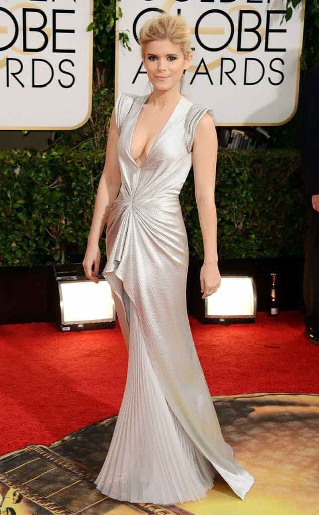 Kate Mara in J Mendel at the 2014 Golden Globes