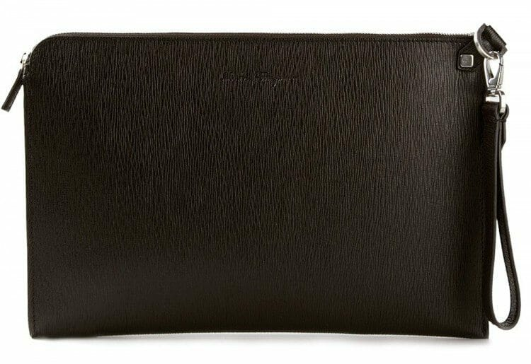 Salvatore Ferragamo Zip Clutch in The Kentucky Gent's NYFW How To Guide