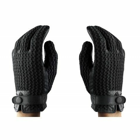 Mujjo Crochet Leather Touch Screen Gloves in The Kentucky Gent's NYFW How To Guide