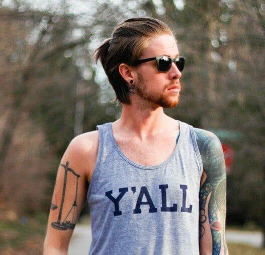The Kentucky Gent in Kentucky For Kentucky Y'All Tank, Topman Camo Shorts, Ray-ban Wayfarers, Converse Chuck Taylors