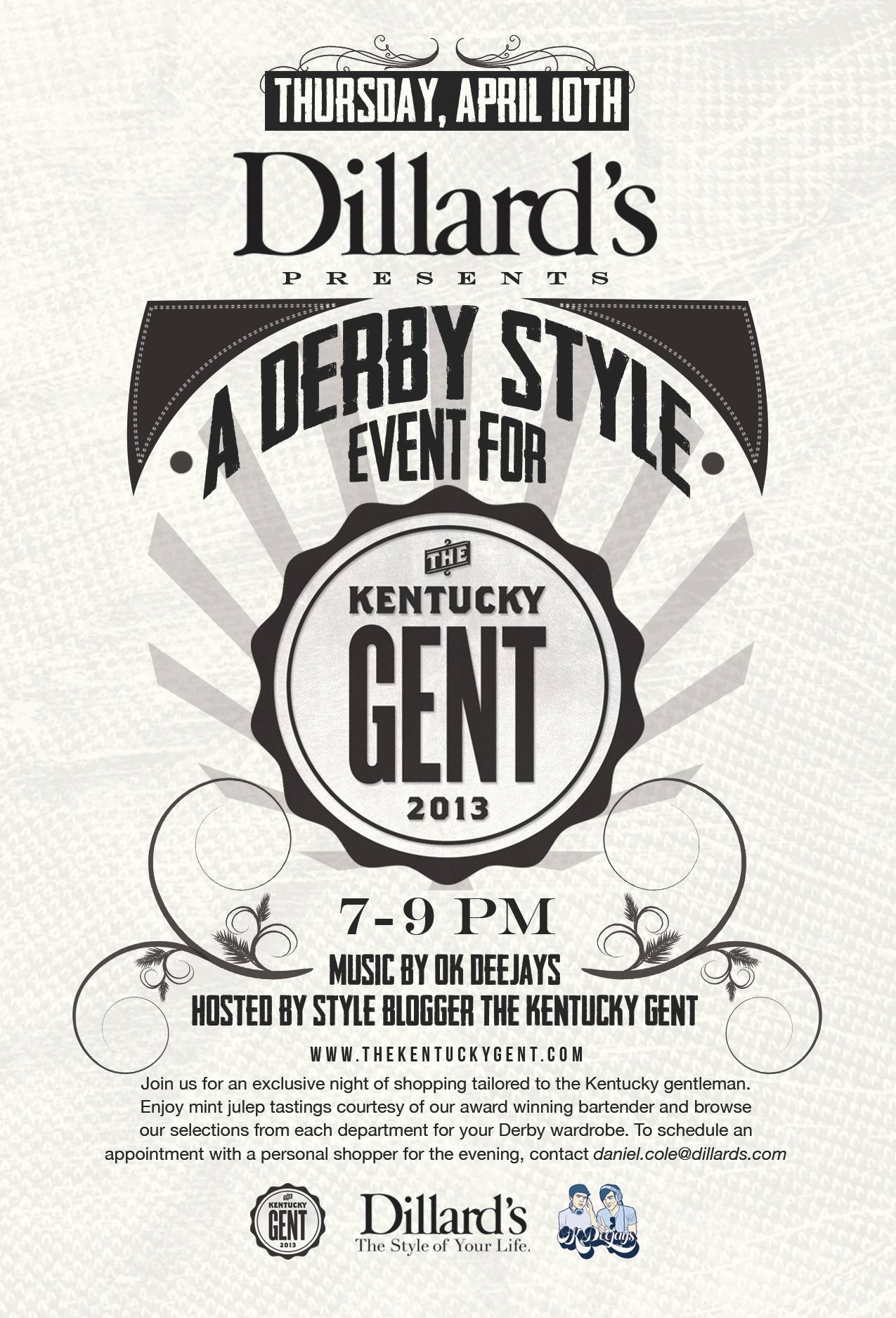 Dillard's Derby Style Event for The Kentucky Gent