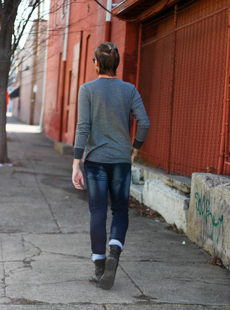 The Kentucky Gent in Original Penquin Briscoe Sunglasses, The Original Tomboy Long Sleeve Pocket T-Shirt, Paul Rizk Jeans, Steve madden Troopah Boots