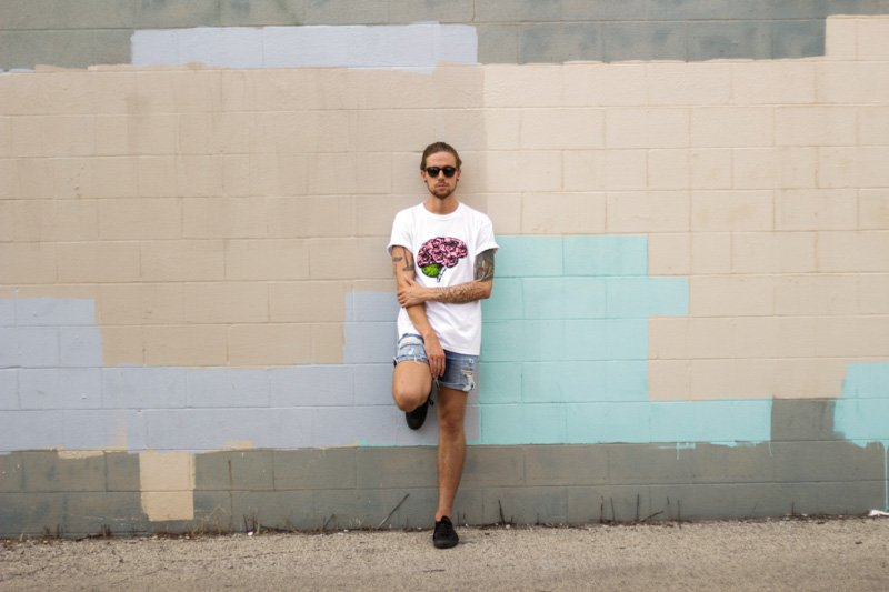 The Kentucky Gent in Other Nature Clothing T-Shirt, Levi's Cut Off Shorts, Converse Chuck Taylors, and Original Penguin Briscoe Sunglasses.