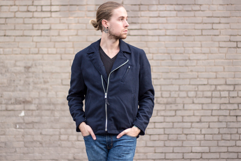 The Kentucky Gent, a men's fashion and lifestyle blogger, picks his favorite winter coats from East Dane in celebration of their Friends & Family Sale wearing G-Star Raw V Neck Tee, Cheap Monday Moto Jacket, Levi's 511 Jeans, and Steve Madden Troopah Boots.