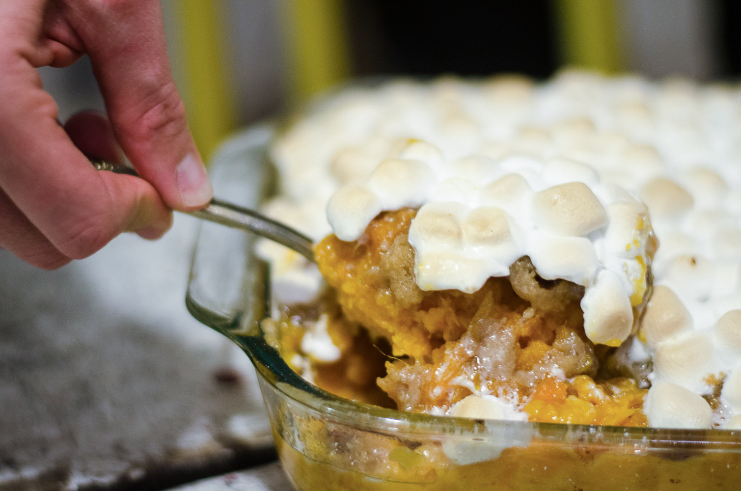 The Kentucky Gent, a Louisville, Kentucky life and style blogger, shares his Candied Pecan Sweet Potato Casserole recipe.