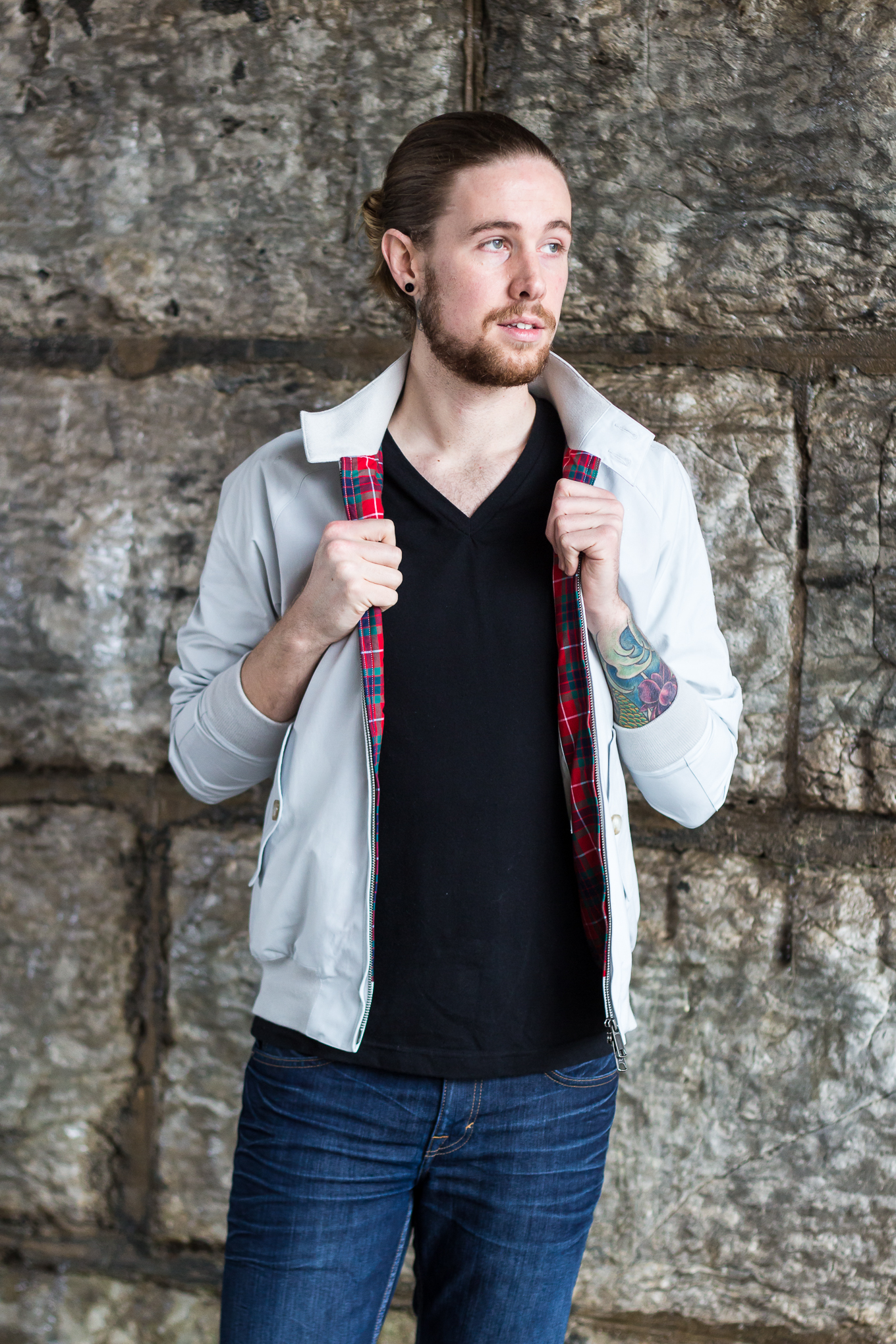 The Kentucky Gent, a mens' fashion and lifestyle blogger, in the classic Baracuta G9 Harrington Jacket.