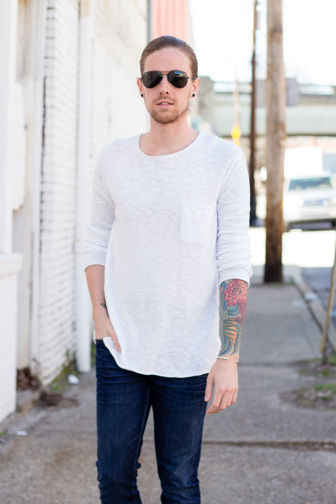 H&M Shirt + DSTLD Jeans on The Kentucky Gent