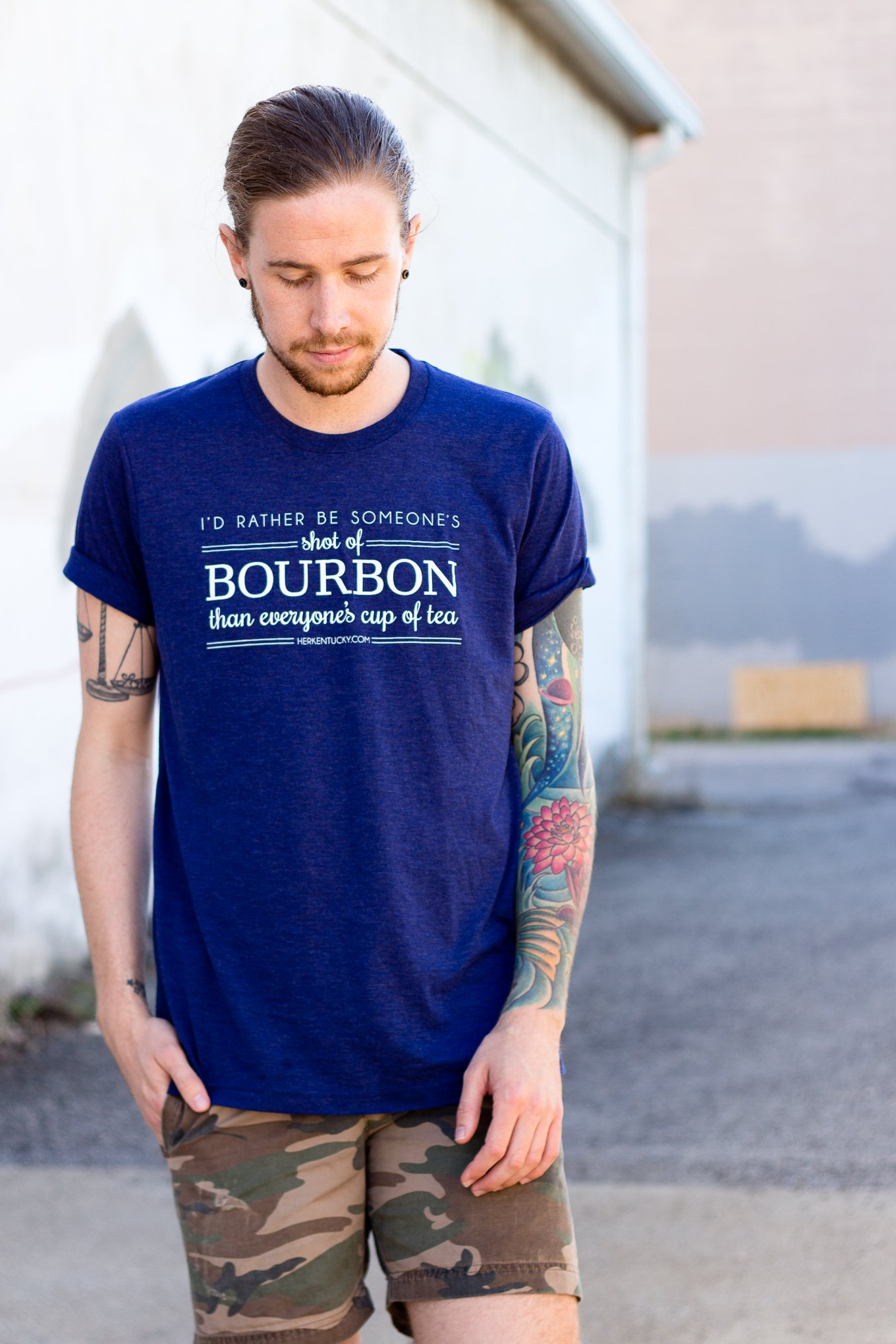 Her Kentucky Shot of Bourbon T-Shirt on The Kentucky Gent