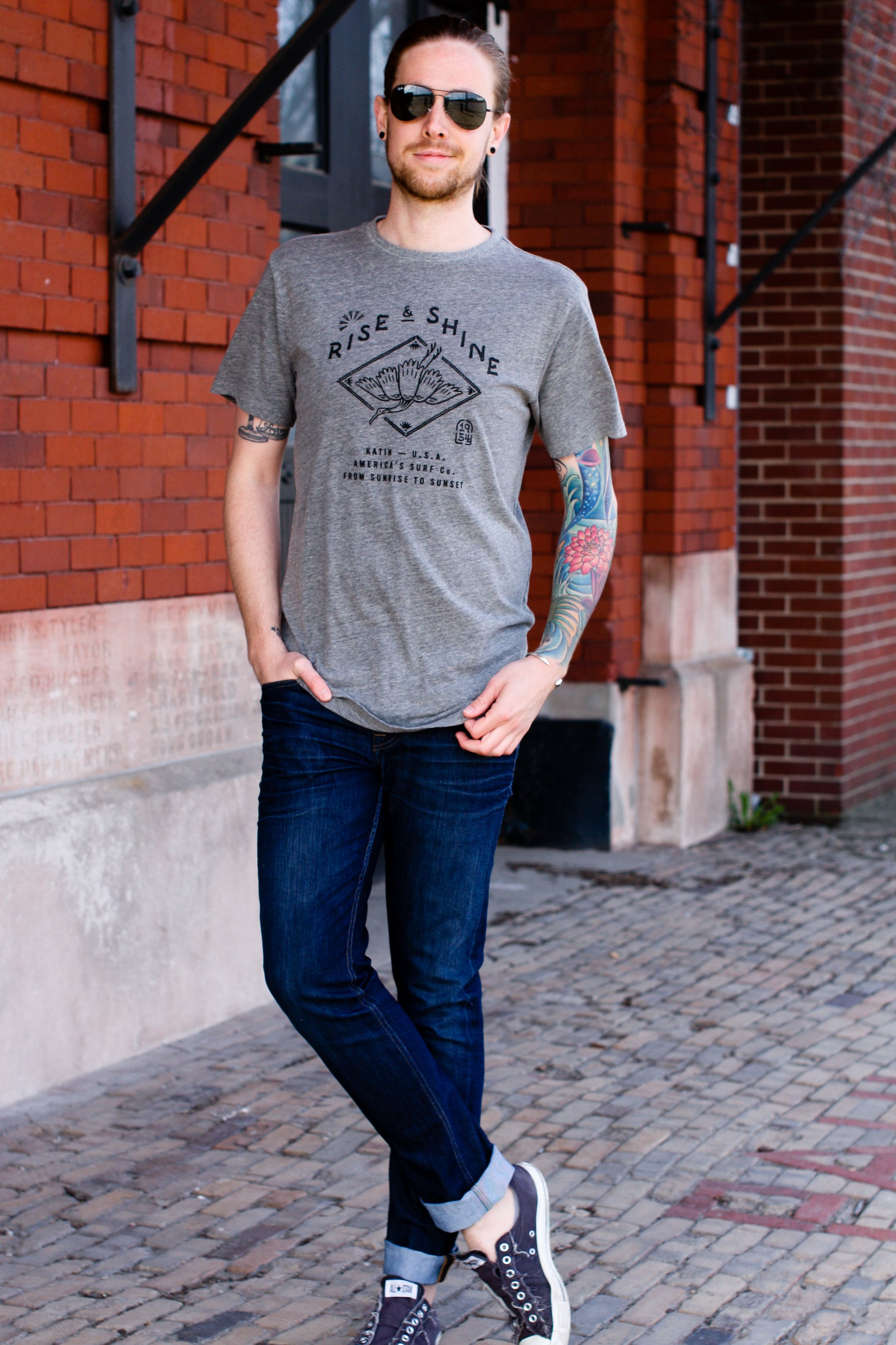 Rise and Shine Katin T-Shirt on The Kentucky Gent