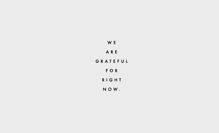how to be grateful, mantra, clementine daily, thursday things