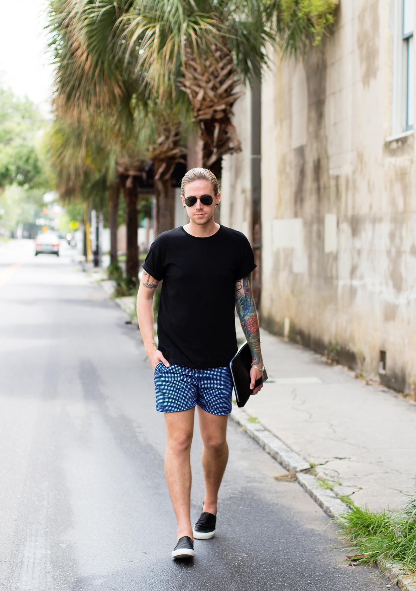 hm printed shorts, mens shorts, #sbscon, charleston, charleston place