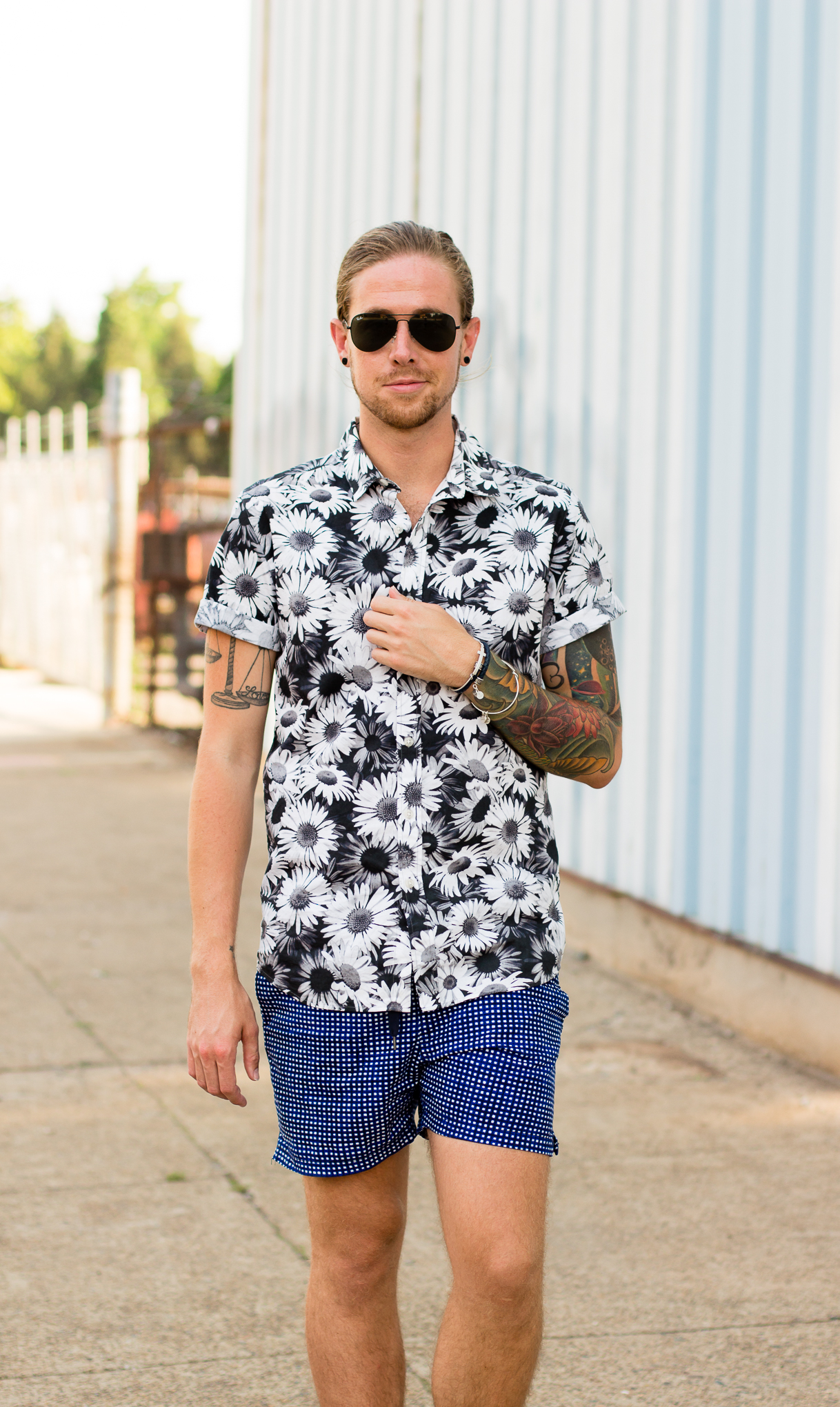 topman, hm, floral shirts, printed shorts, how to wear prints