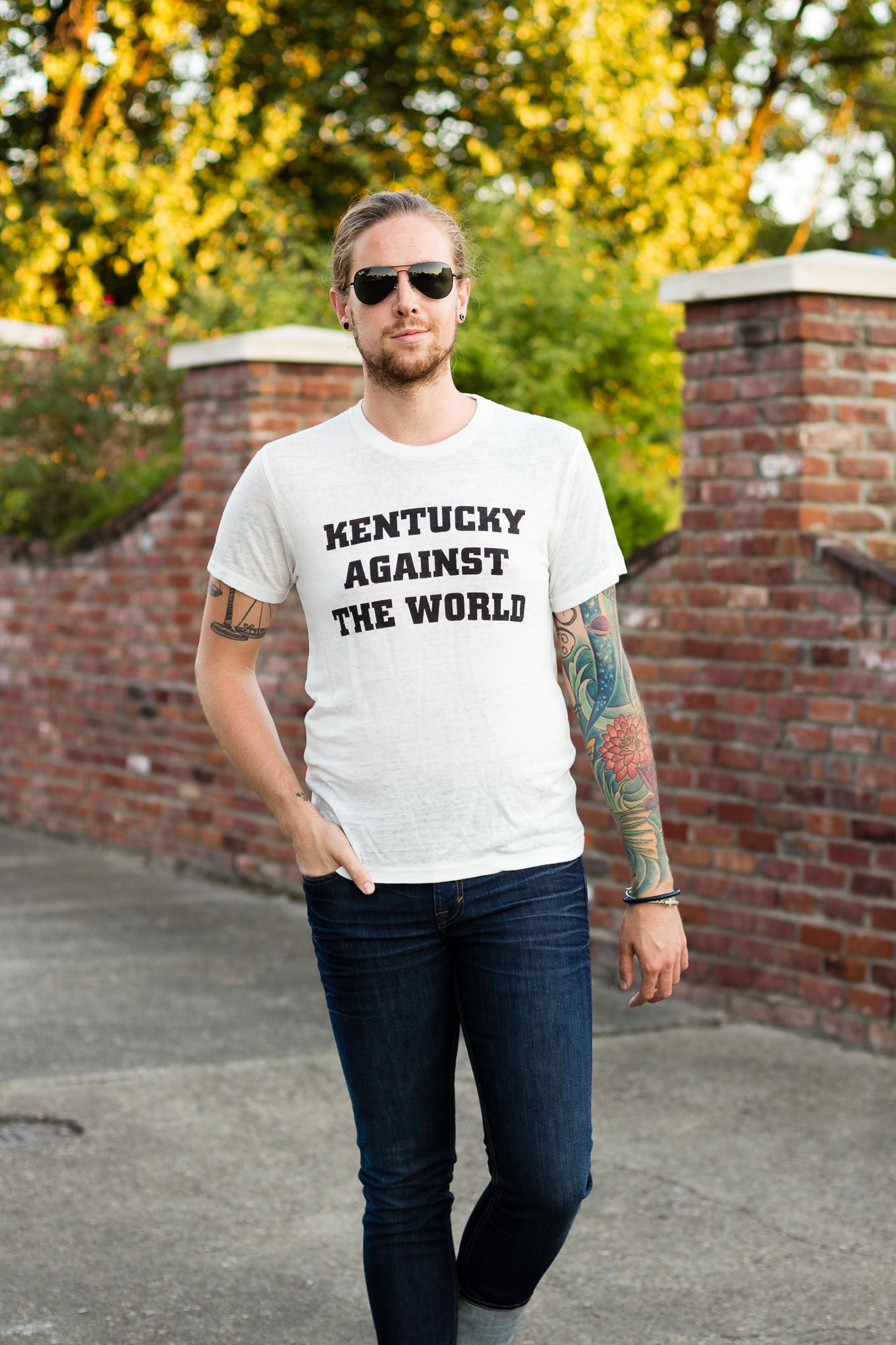 2Nostalgik, kentucky, louisville, kentucky against the world, mens fashion