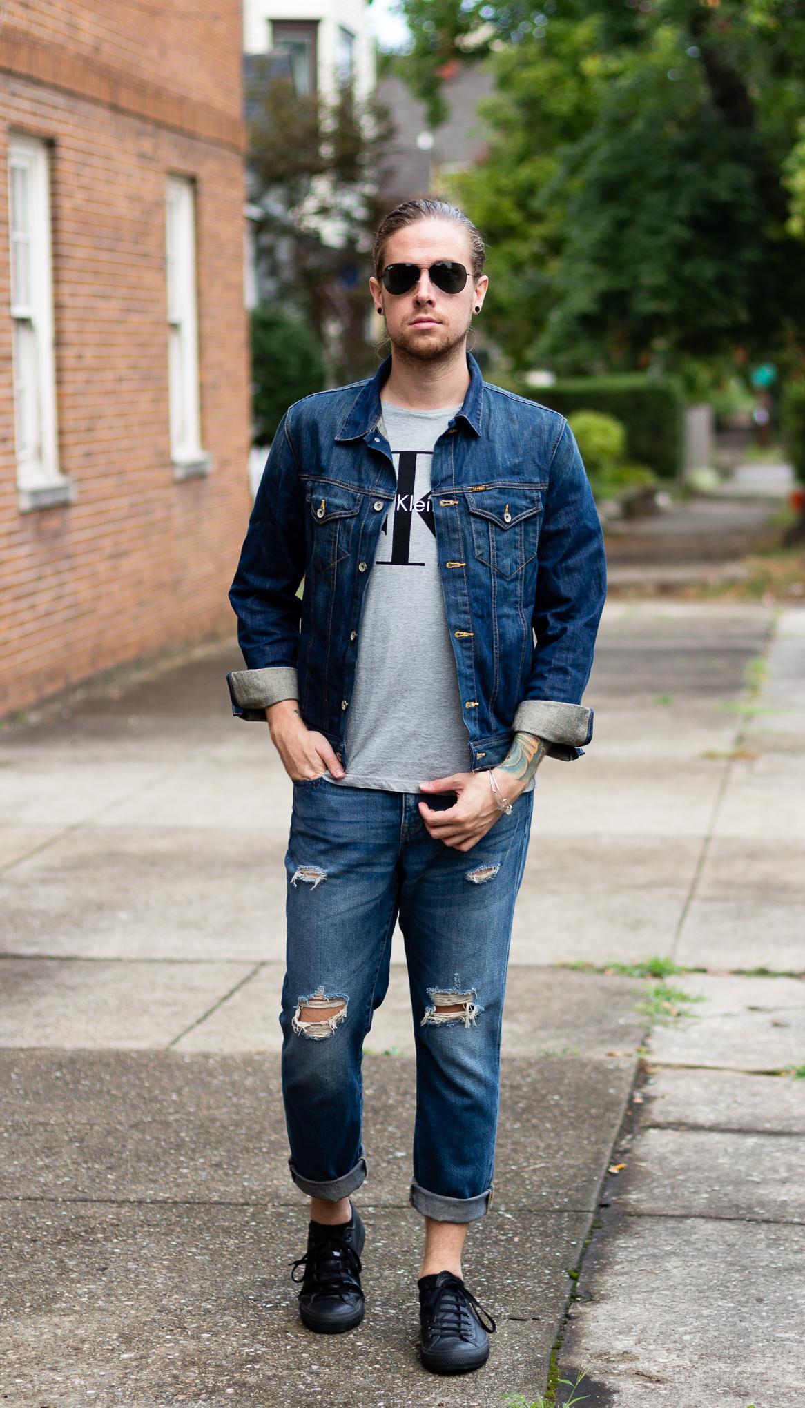 ck jeans, calvin klein, madewell, converse, mens fashion