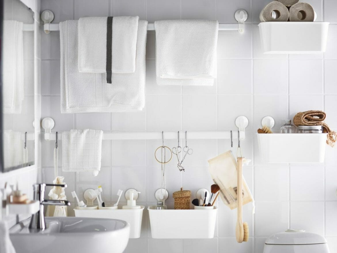 small bathroom tips, ikea bathrooms, small bathroom hacks, how to make the most of a small bathroom