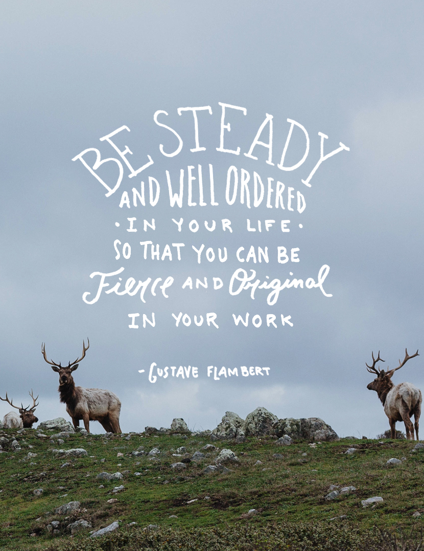 be steady and well ordered, how to be steady, tips on being steady, thursday things, link roundup