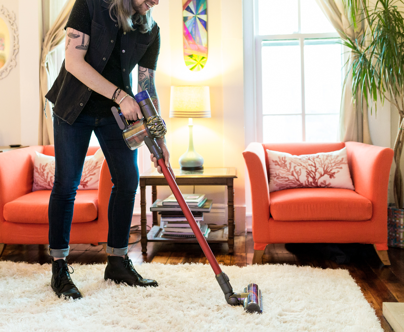 dyson cordless vacuums, how to clean your apartment, tips for apartment cleaning, dyson vacuums, mens lifestyle blog