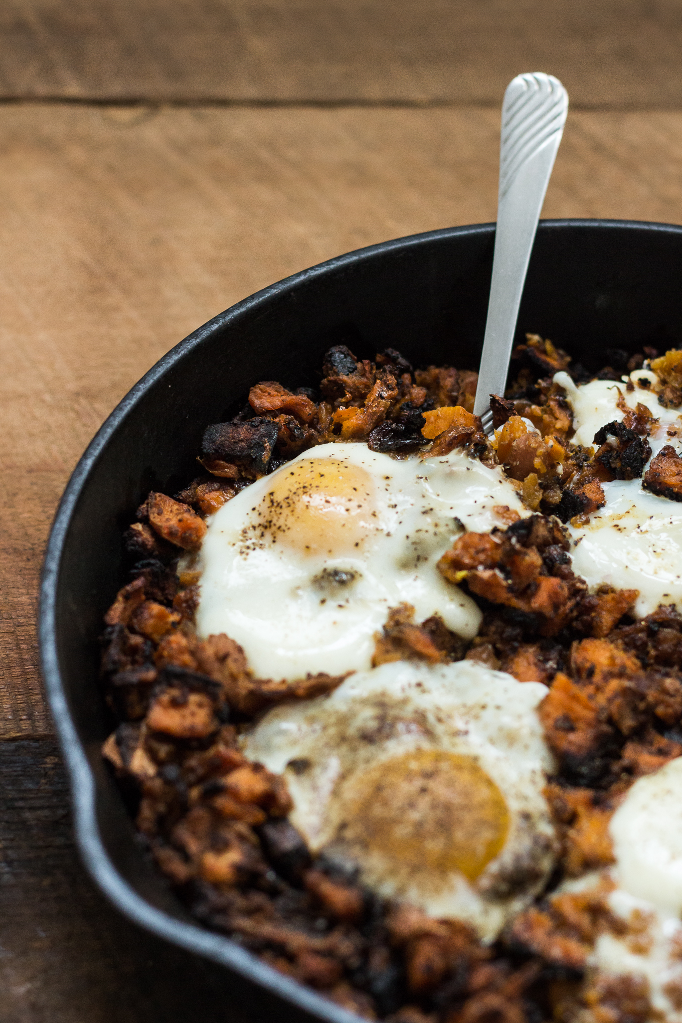 sweet potato hash, breakfast hash, hormel corned beef hash, one pan breakfast dishes, southern food blog