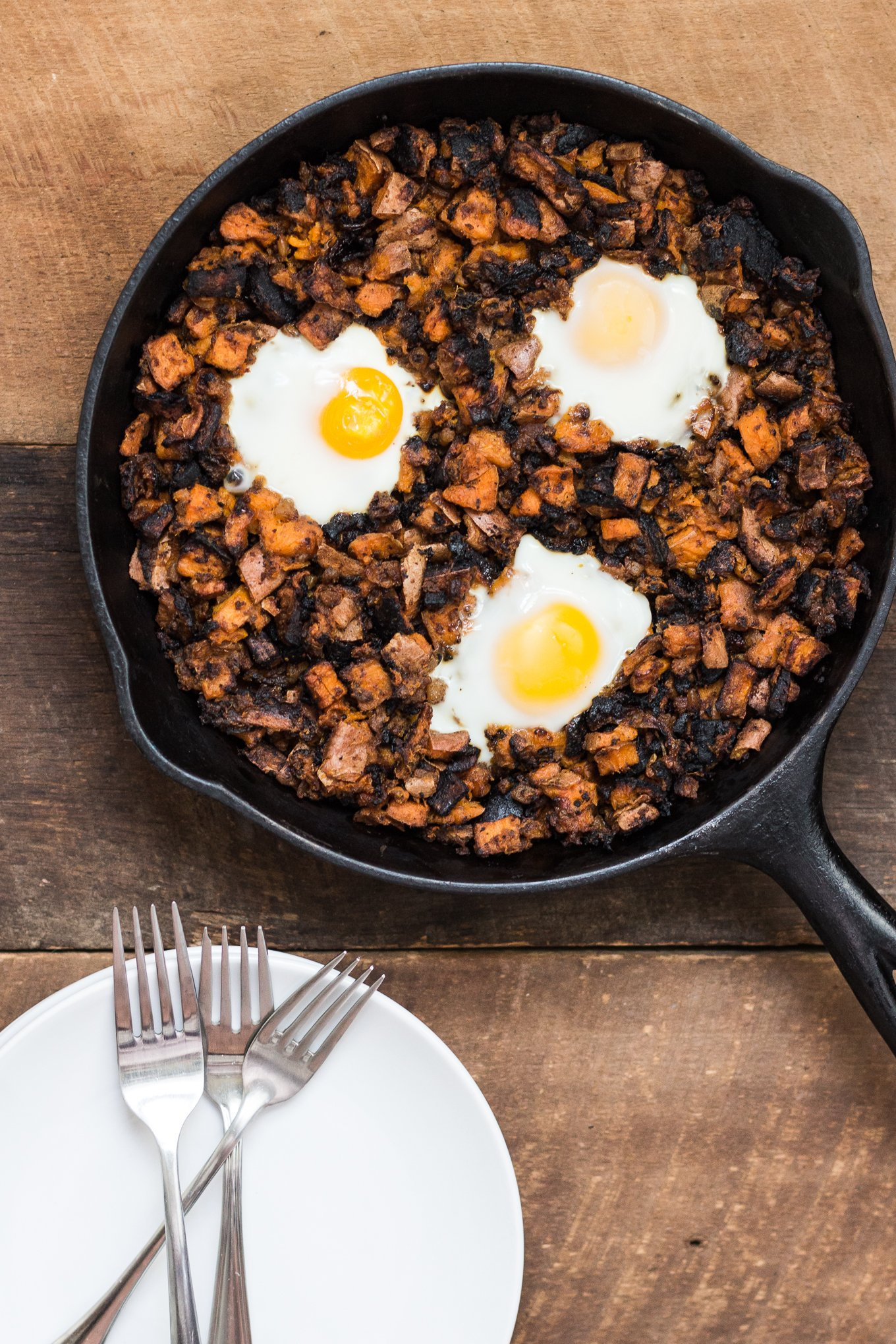 sweet potato hash, breakfast hash, hormel corned beef hash, one pan breakfast dishes, southern food blog
