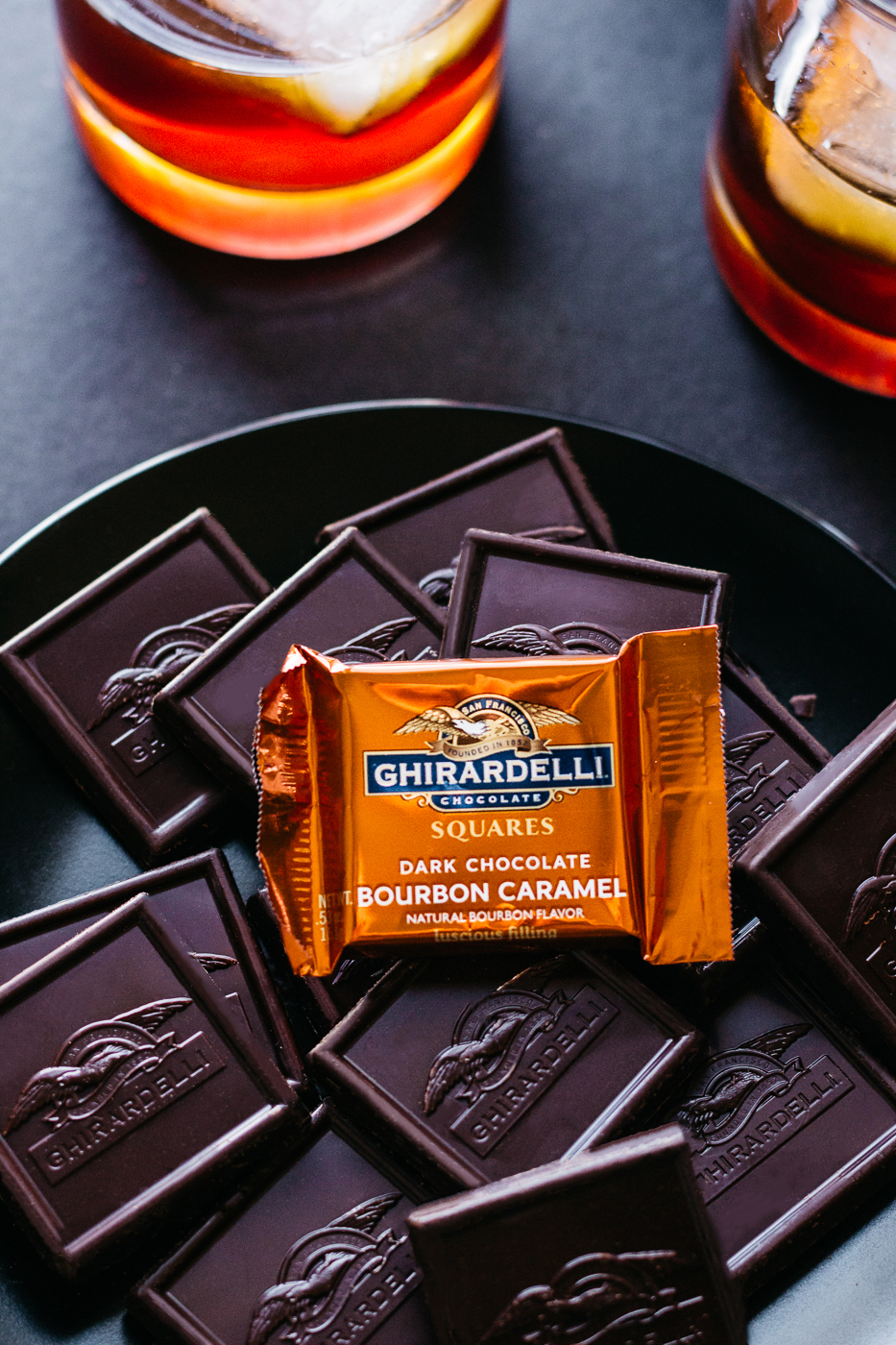 ghirardelli chocolate, bourbon chocolate, kentucky derby party, kentucky derby party cocktails, lifestyle blog