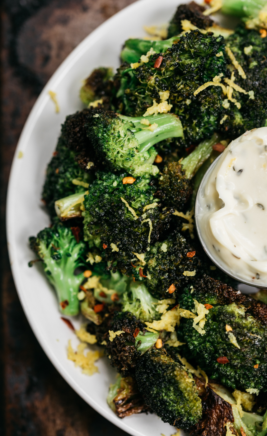 fried broccoli recipe, fried broccoli, herbed aioli, louana coconut oil, southern cooking blog