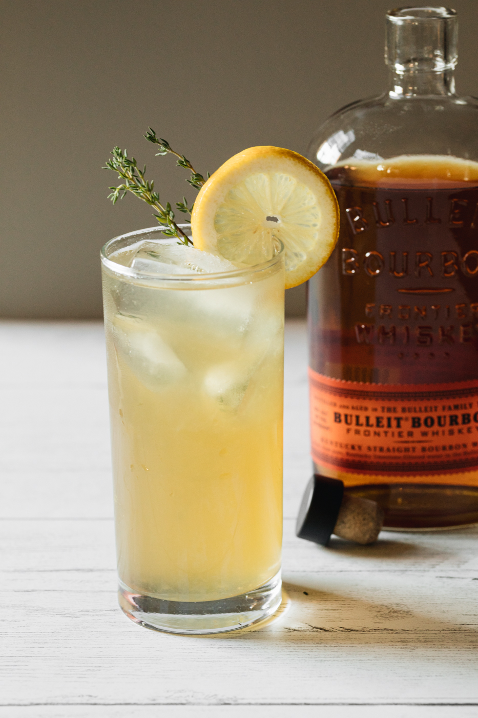 Honey Thyme Lemonade made with Bulleit Bourbon