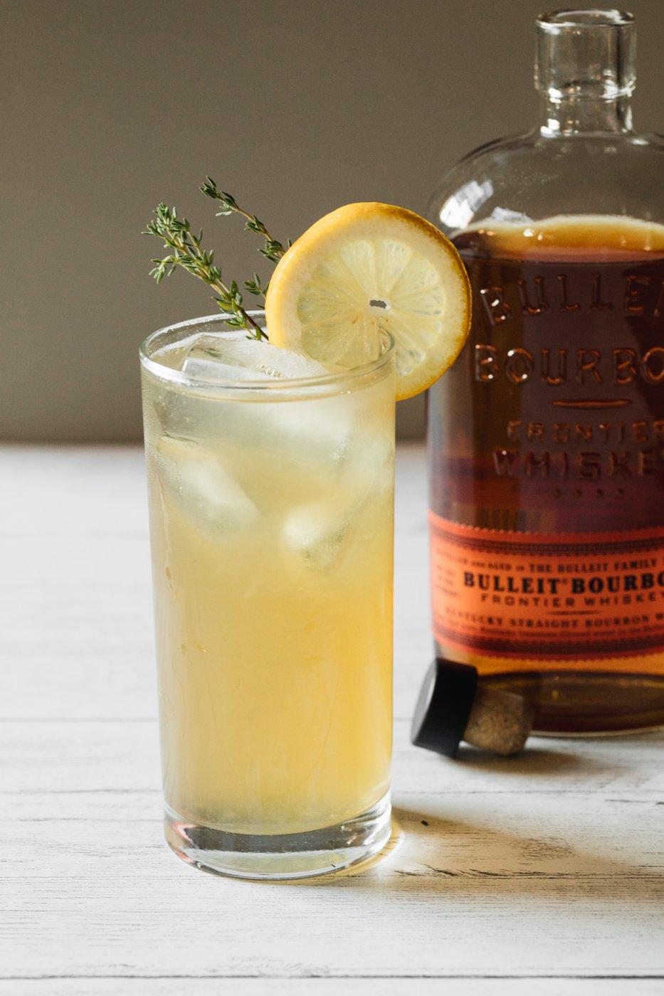 Honey Thyme Lemonade made with Bulleit Bourbon