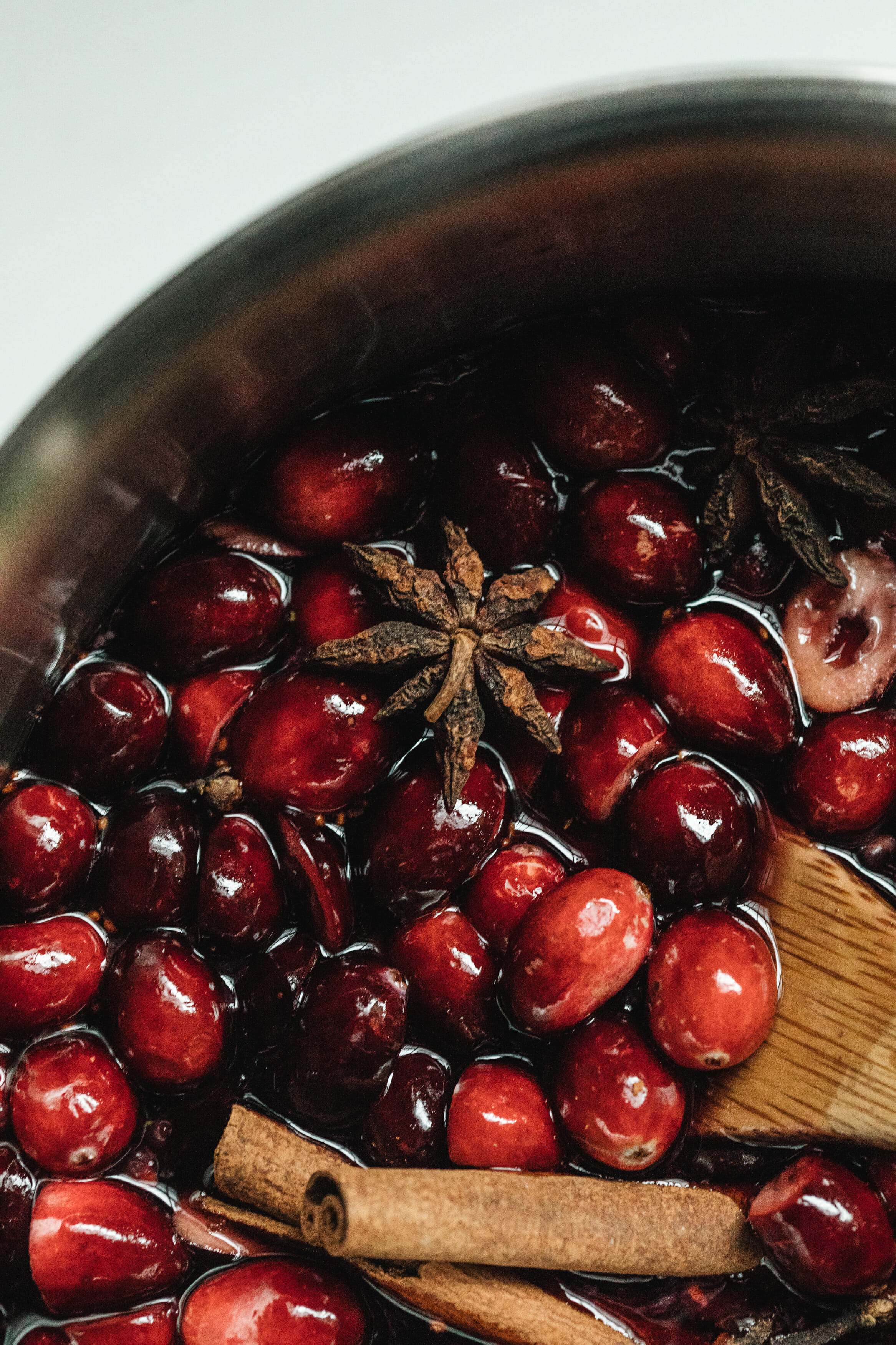 cranberry star anise simple syrup