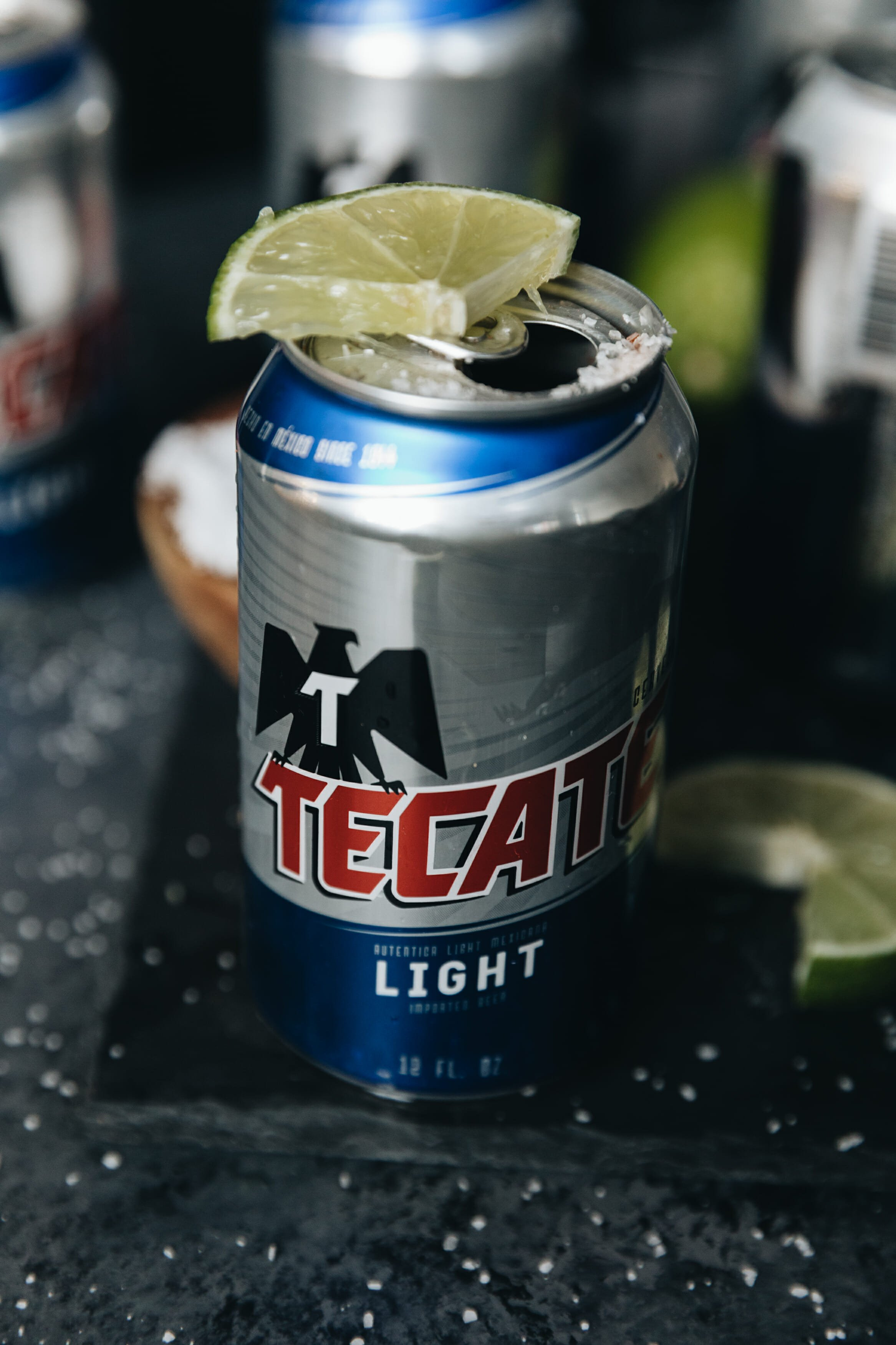 closeup of tecate