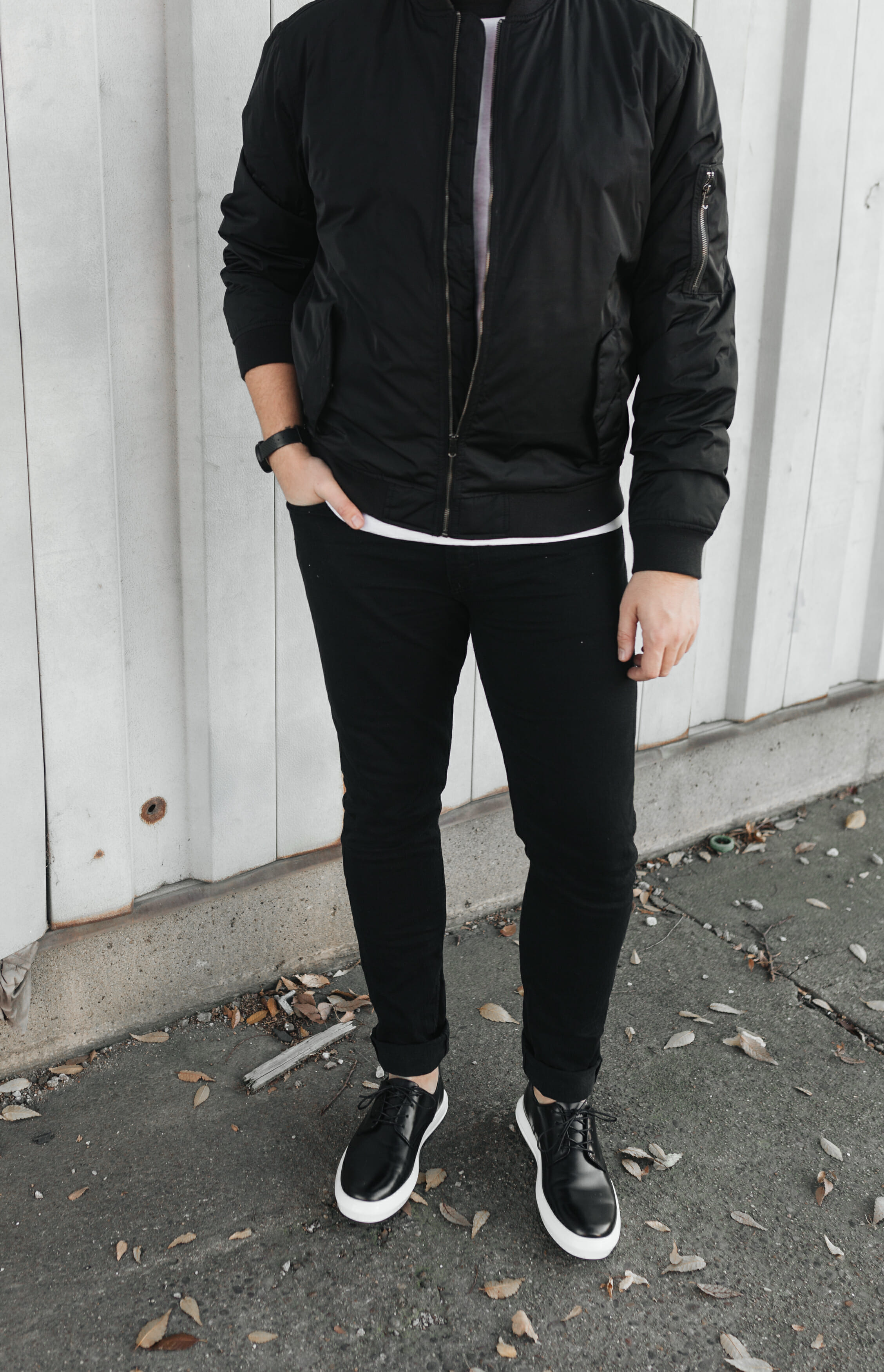 mens all black outfit