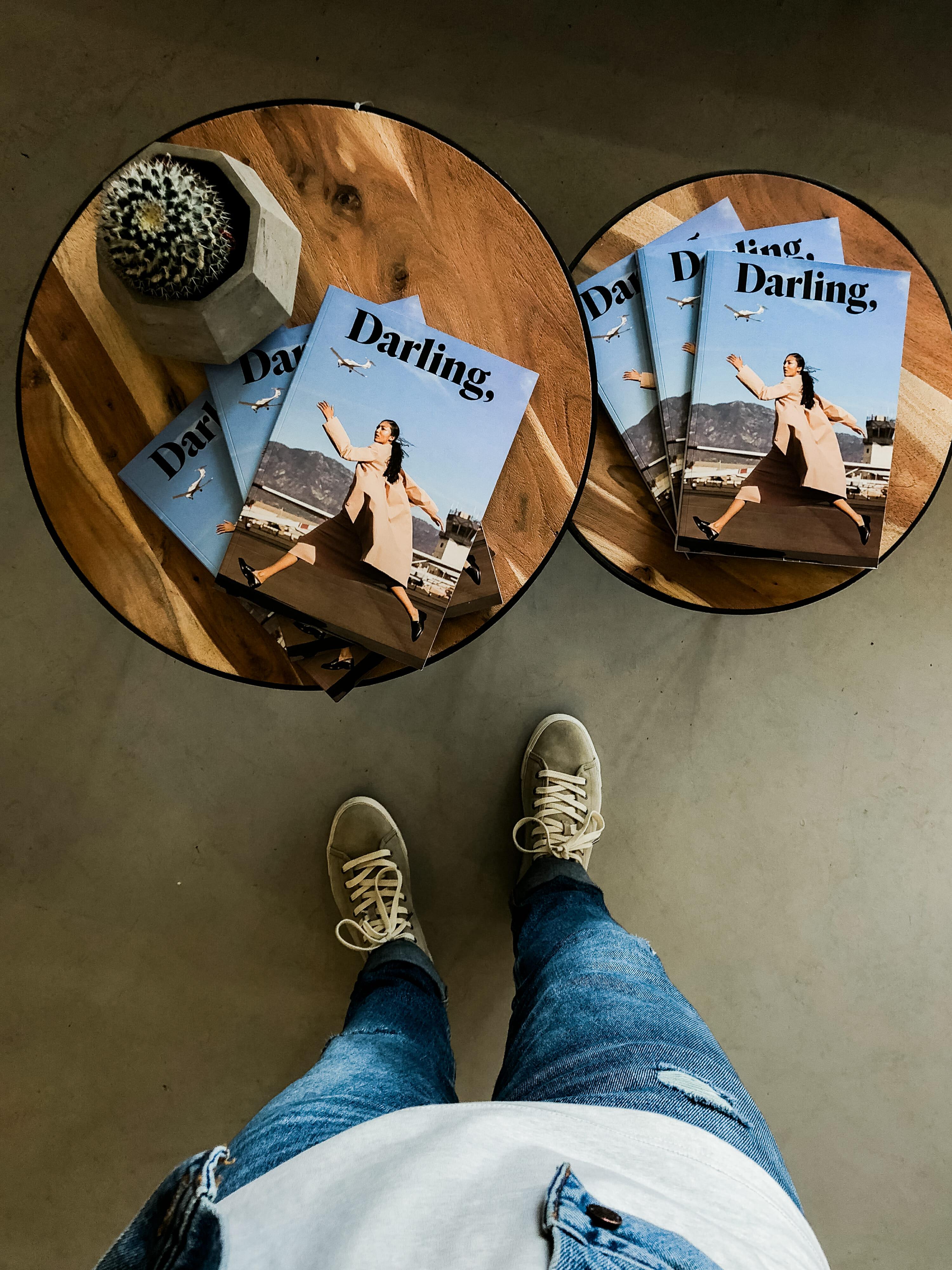 darling magazine overhead shot