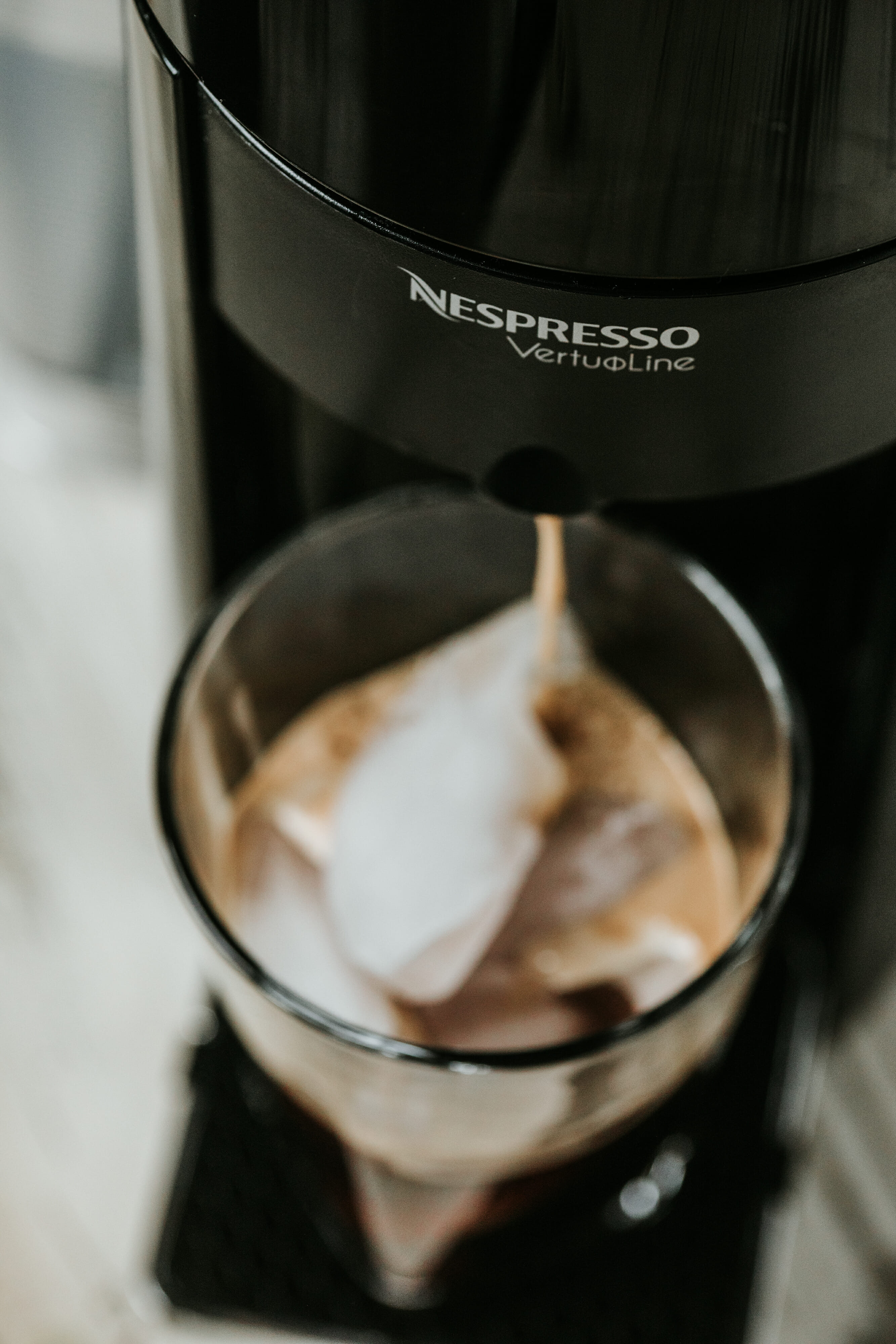 nespresso machine brewing