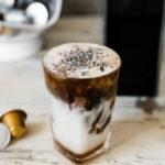 honey lavender iced latte