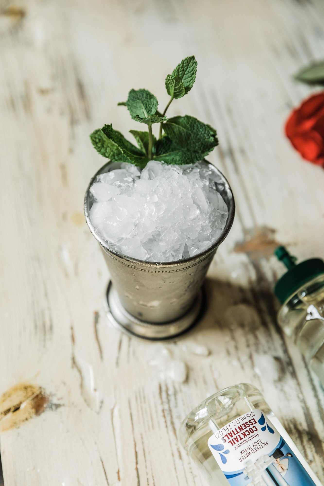 mint julep and roses