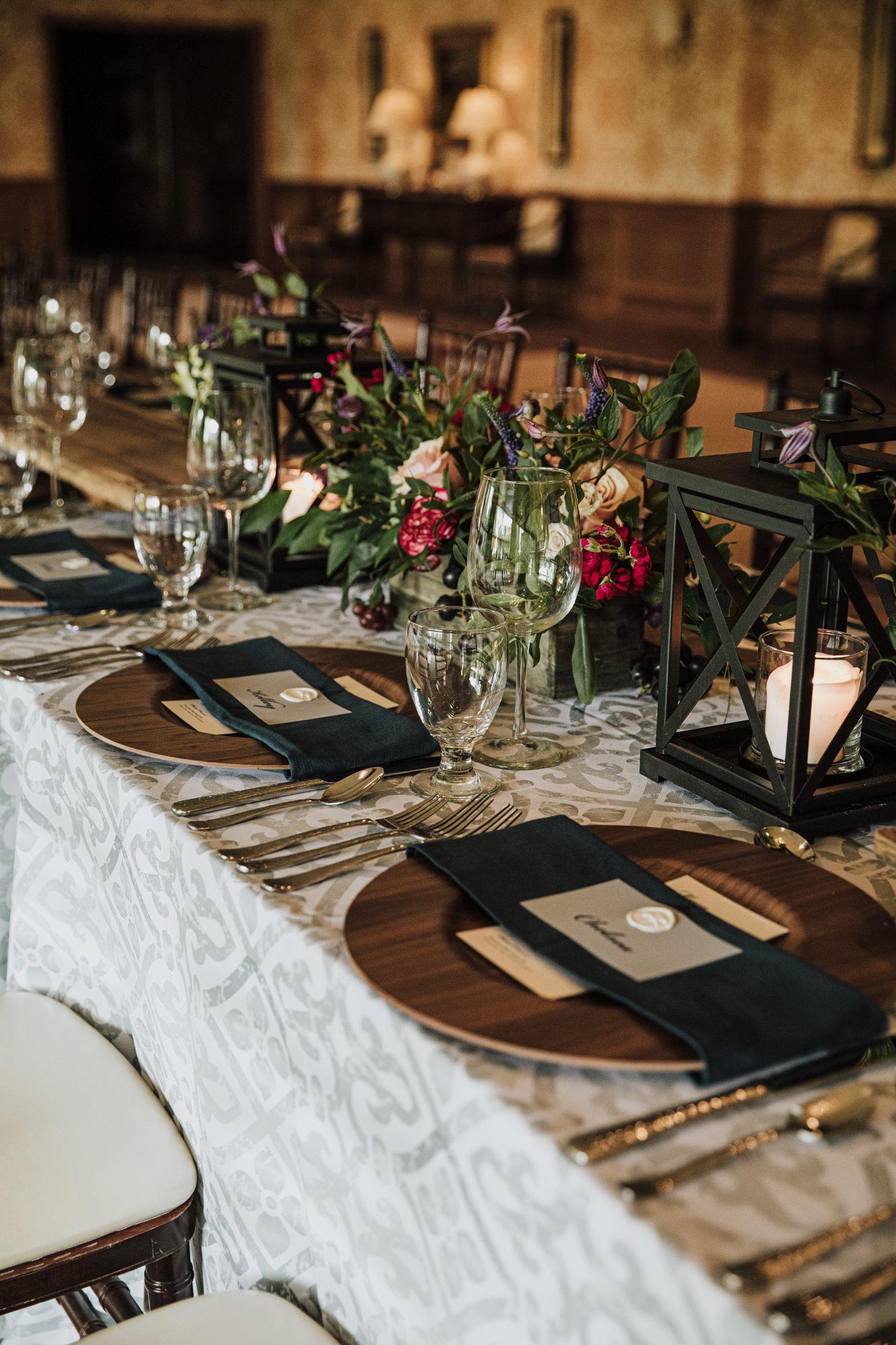 table setting at keen eland