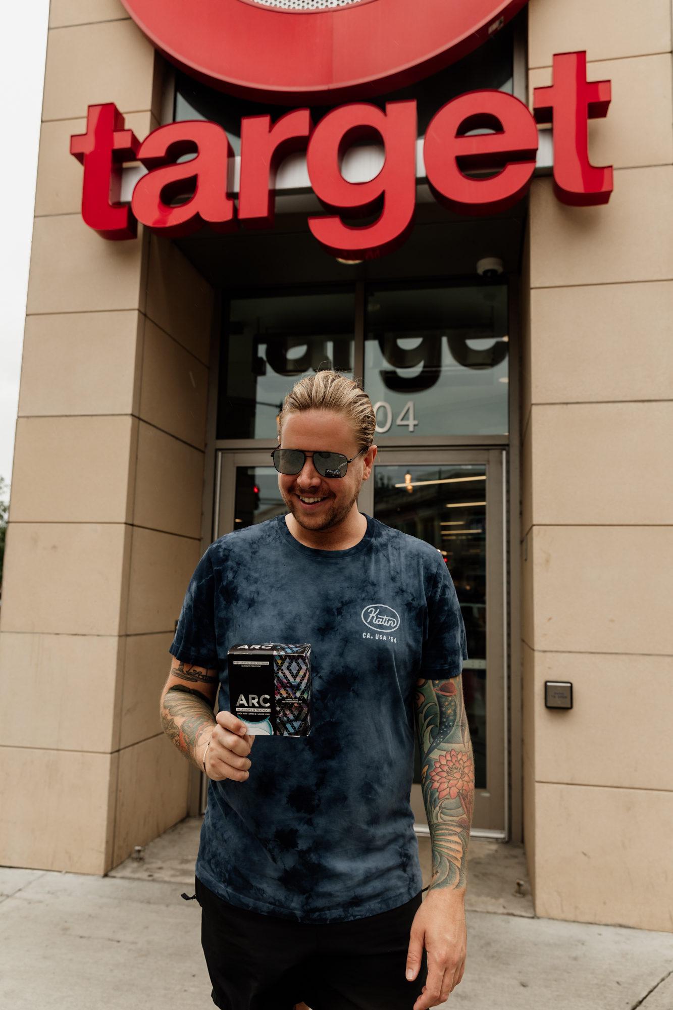 man at target