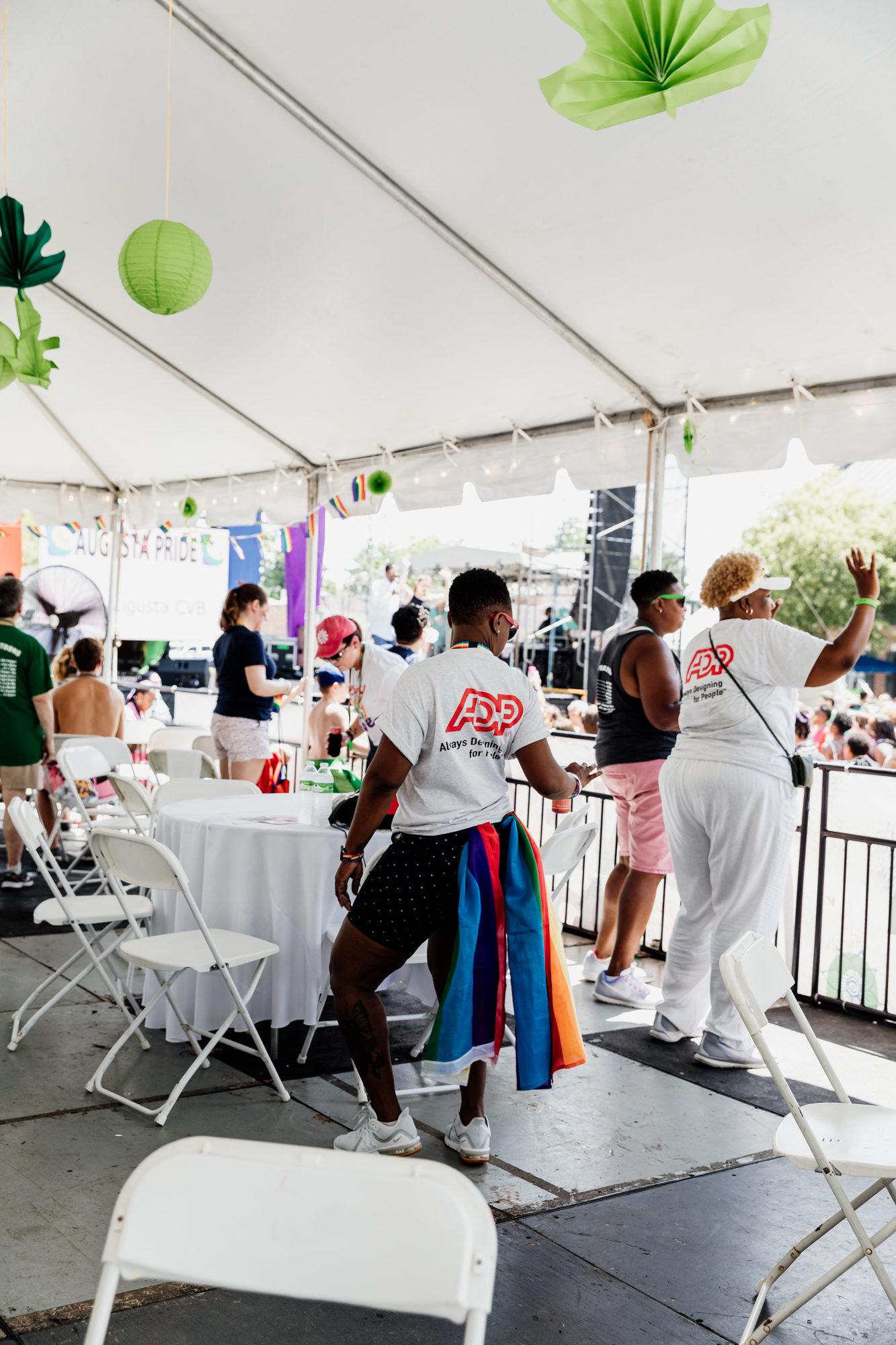 woman dancing at augusta pride