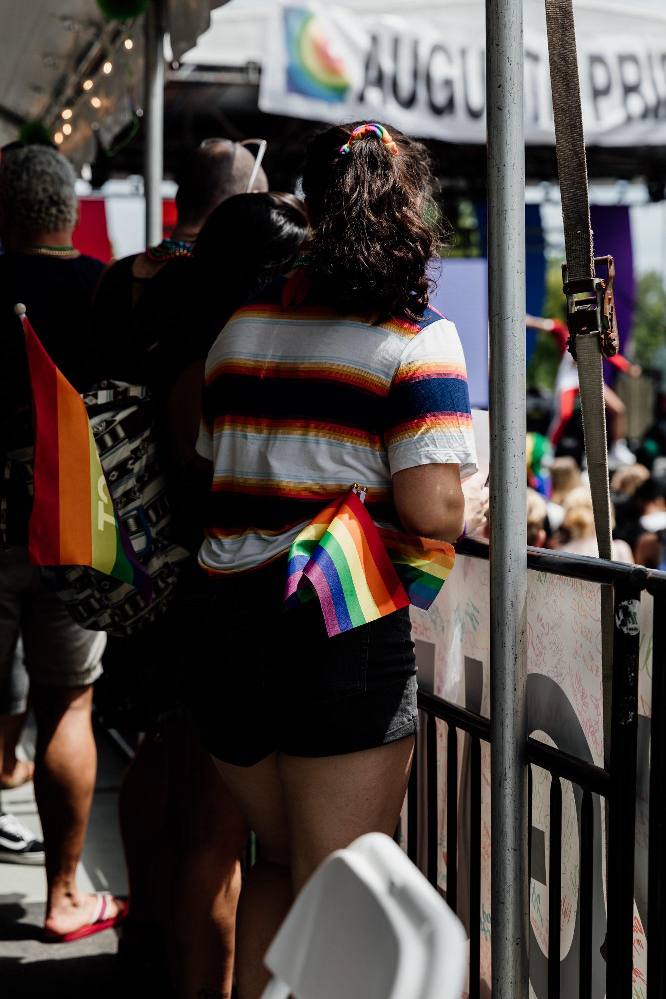 rainbow flag at augusta pride