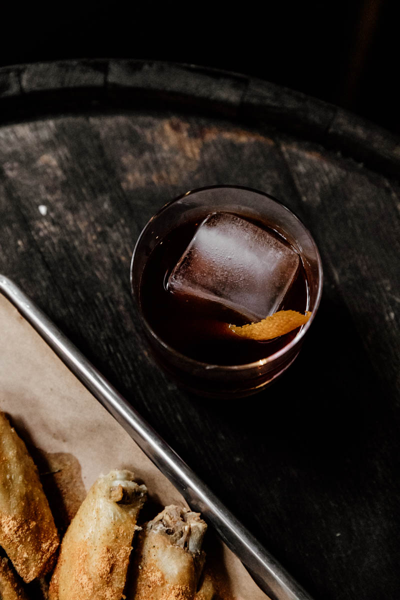 old fashioned down one bourbon bar