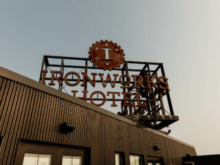 ironworks hotel sign